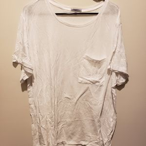 Charlotte Russe Relaxed Fit White Tee